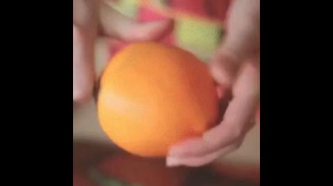 Как просто почистить апельсин