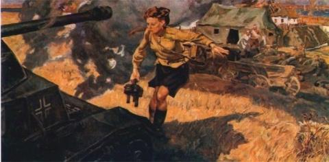 Подвиг санинструктора Валерии Гнаровской (1943 г.)