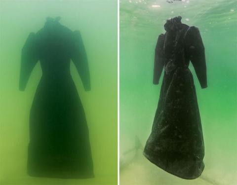 Художница оставила платье в …