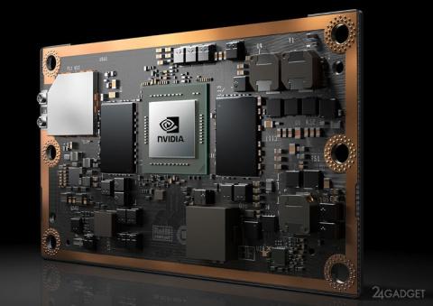 Мощный компьютер от NVIDIA по величине сопоставим с банковской картой
