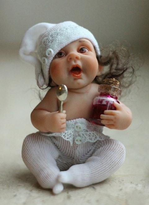 Реалистичные куколки Елены Кириленко из полимерной глины, которые очень похожи на малышей!