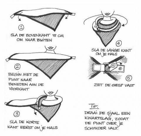 Модификация платка застёжкой