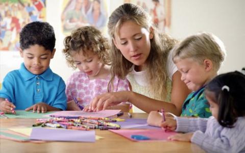 Дети практиковали правописан…