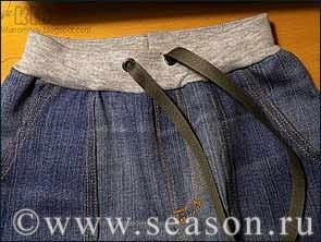 ШЬЕМ, ШЬЁМ, ШЬЁМ... Трикотажный пояс на детских джинсах