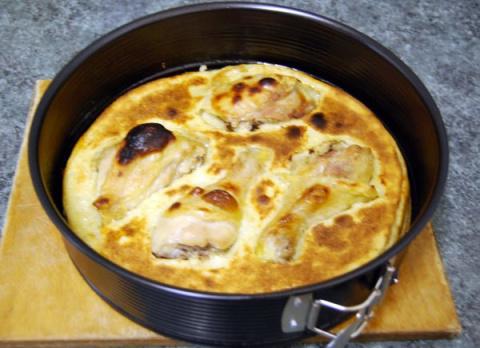 Запеченная курица в кляре. Фото-рецепт. Татьяна. Словения