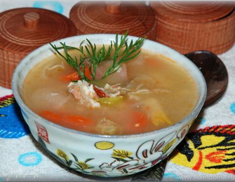 ДЕНЬ ПЕРВОГО БЛЮДА. Рыбный суп с икрой мойвы