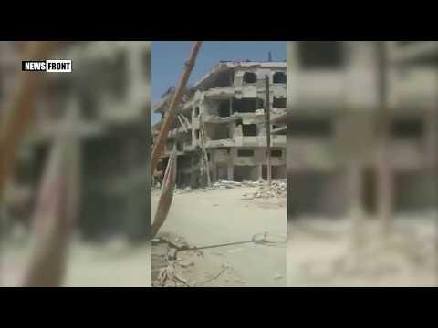 Освобожденные сирийской армией районы Дамаска