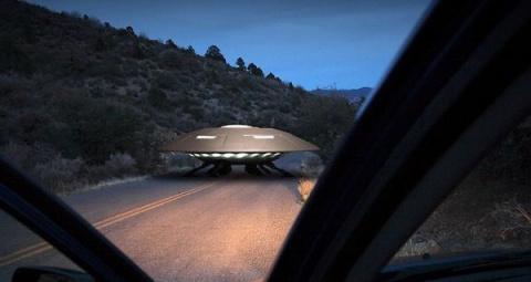 Встреча с пришельцами на дороге в Эстонии