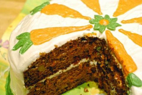 Морковный тортик.