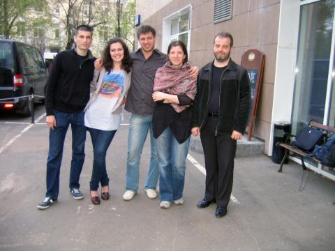 слева на право: Володя и Вета Русановы, Пётр Соколан, Вера Ветра, Николай Стихин