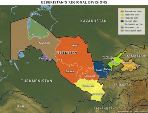STRATFOR поделил Узбекистан …