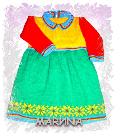 Вязание штанишек для девочки на спицах 877