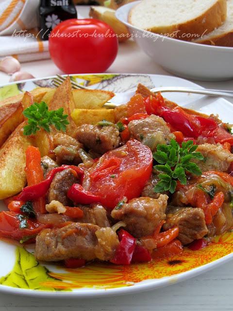 """""""Шкворчащая сковородочка"""", или мясо пo-абхазски"""