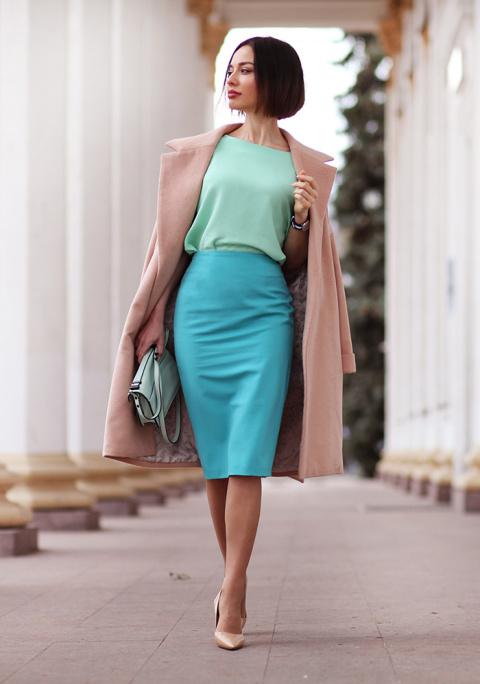 Модные юбки карандаш: 23 сти…