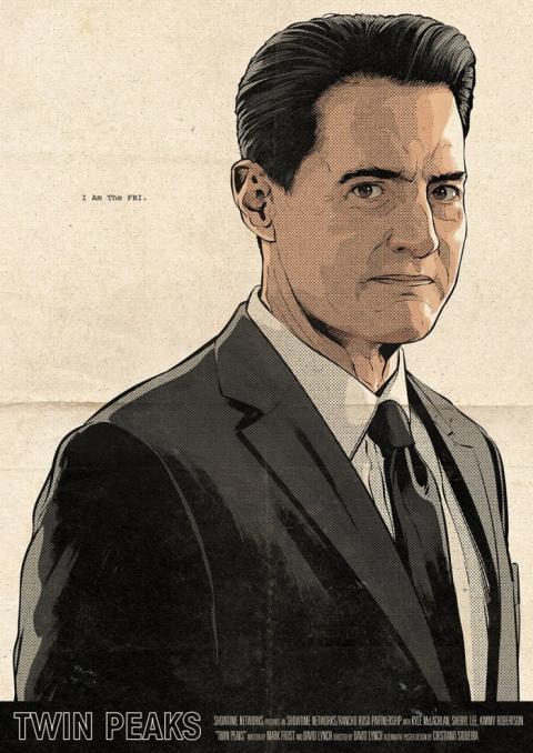 Постеры к телесериалу «Твин Пикс» иллюстратора Cristiano Siqueira
