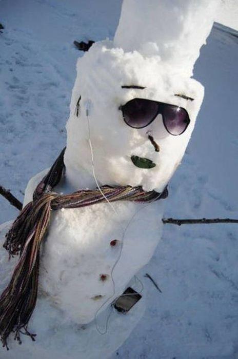 Прикольные картинки про зиму (35 шт)