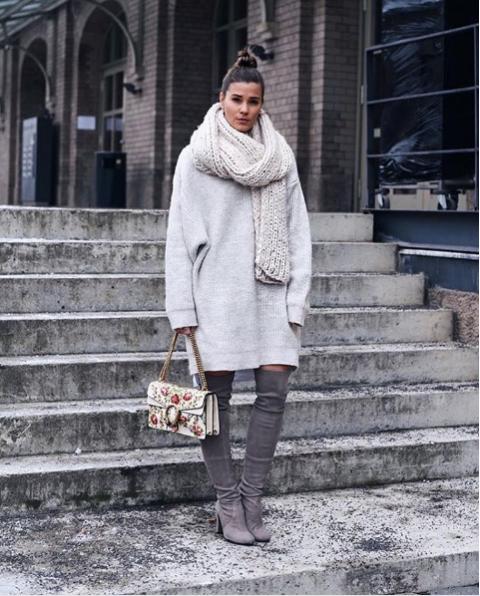 Как носить трикотажный тотал-лук и не выглядеть старомодно