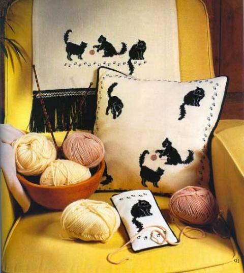 Вышивка крестом — коты и котики разной степени сложности (со схемами)