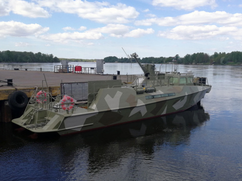 """Судостроительный завод """"Пелла"""" спустил на воду патрульный катер проекта 03160"""