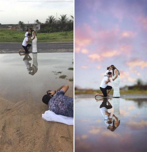 Свадебный фотограф показал свое ремесло с необычной стороны