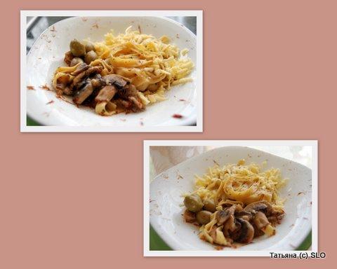 Резанцы со свининой маринованой в пиве и шампиньонами. Фото-рецепт. Татьяна (с) SLO