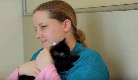 Девушка-аутист заговорила после десяти лет молчания благодаря любви к черным кошкам