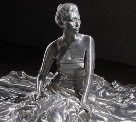 Скульптуры из алюминиевой проволоки Сон Мо Пака
