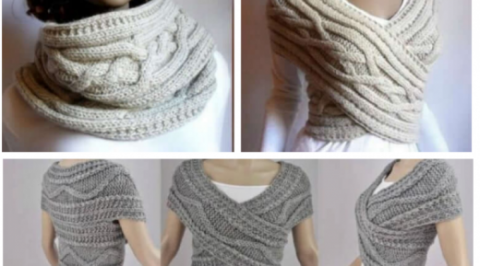 Вяжем стильный шарф-трансфор…