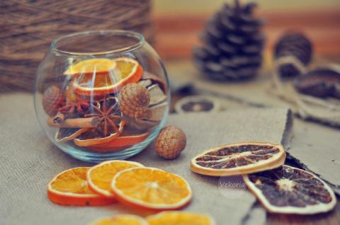 Сушим цитрусовые для Новогоднего декора