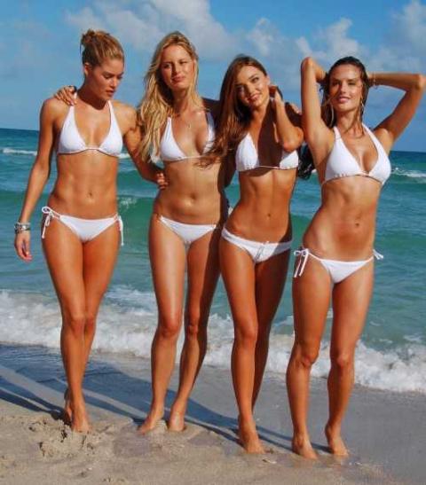 7 красоток Victoria's Secret без макияжа и фотошопа