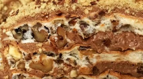 Торт без муки с грецкими орехами