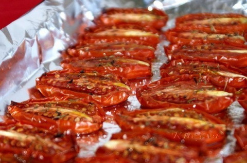 Безумно вкусные вяленые помидоры...