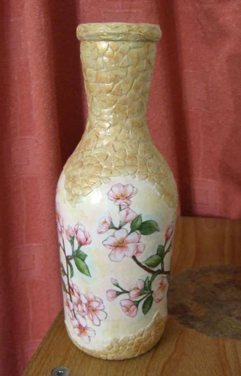 Превращаем пустую бутылку в вазу
