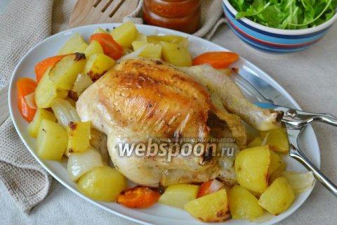 Цыпленок с овощами в пакете