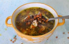 Куриный суп с чечевицей – по…