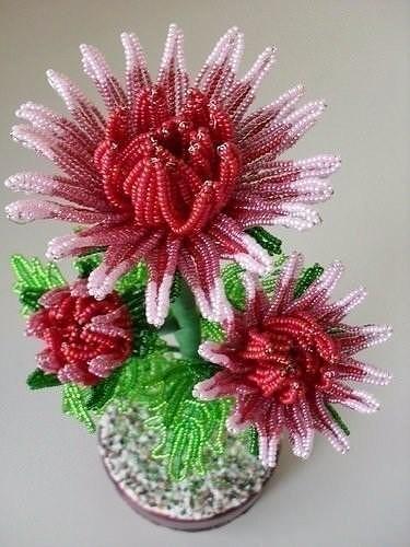 Хризантемы из бисера - насто…