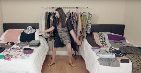 С ее гениальной техникой весь гардероб поместится в одном чемодане!