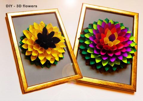 Подарок - 3d цветок своими руками