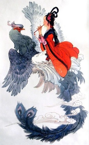 Женщина и птица