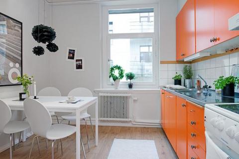 Дизайн оранжевой кухни: 25 с…
