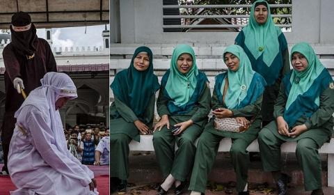 Полиция нравов в индонезийск…