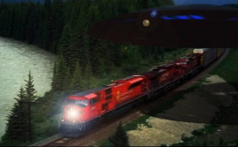 НЛО тащил железнодорожный со…