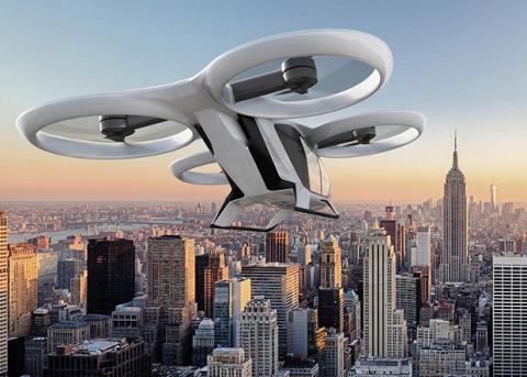 Airbus испытал двигательную установку городского аэротакси