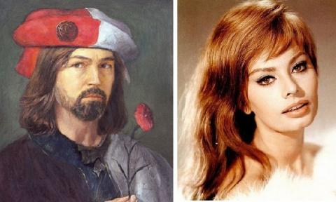Роман в картинах длиною 30 лет: Софи Лорен и Никас Сафронов