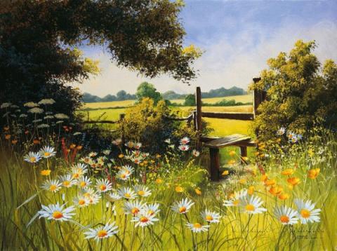 Полевые цветы художницы Мери Дипнолл