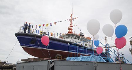 На Онежском судостроительно-судоремонтном заводе на воду спустили новое судно