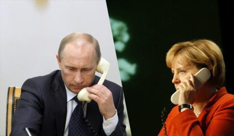 Телефонный разговор с Федеральным канцлером Германии Ангелой Меркель
