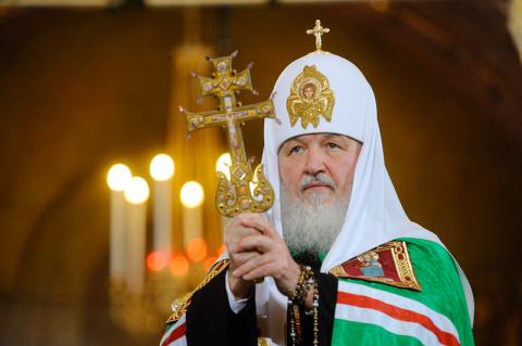Глава РПЦ патриарх Кирилл по…