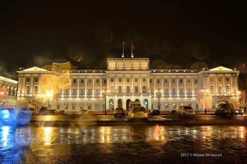Мокрые ночи  осеннего Петербурга