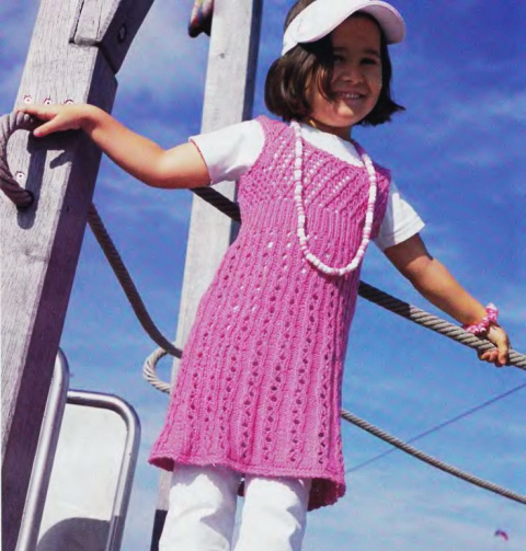 Детские платья спицами (обзор)